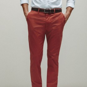 Cotton straight cut chinos