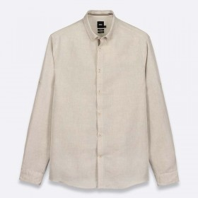 Regular linen shirt